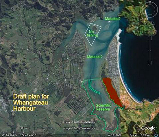 Draft plan for Whangateau Harbour
