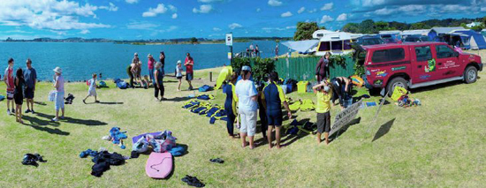 A recent Funday incorporating snorkelling, harbour walks and the glass bottom boat attracted more than 200 participants. The picture shows snorkellers being prepared by EMR volunteers - Darryl Torckler.