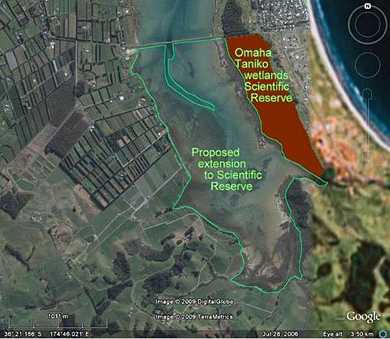 Proposed extension to scientific reserve