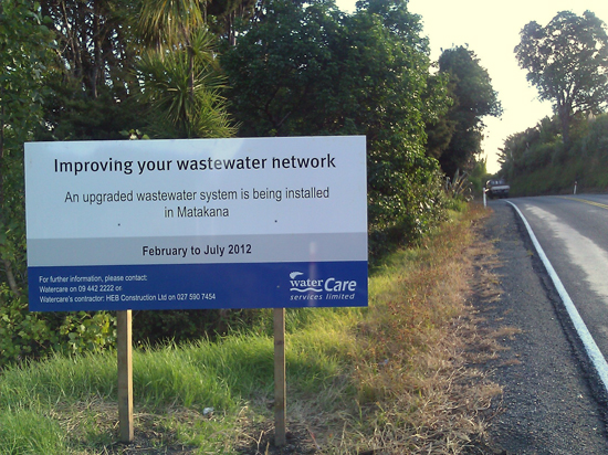Watercare Sign - Ian Macdonald
