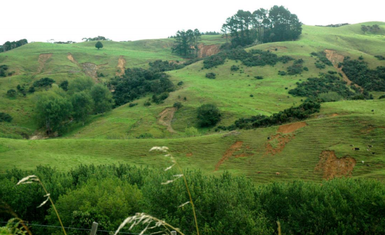 Severe Erosion on Pakari Hill after Cyclone Wilma