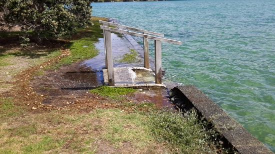 Steps and seawall at Point Wells Reserve