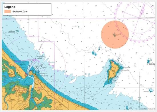 Figure 1: Map of Te Tau o Taiti Rahui area - current exclusion zone